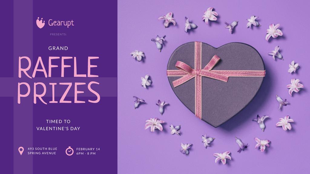 Valentine's Day Heart-Shaped Gift in Purple — Crea un design