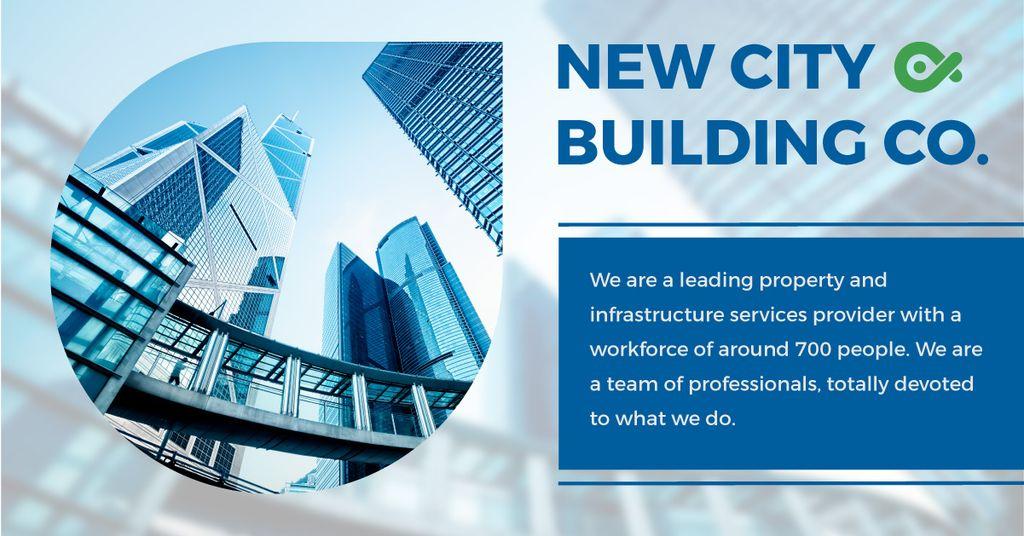 New city building poster — Создать дизайн