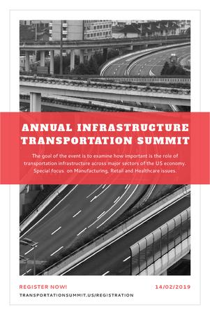 Annual infrastructure transportation summit Pinterestデザインテンプレート