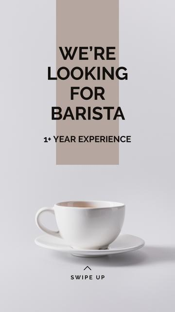 Cup of Coffee in white Instagram Story Modelo de Design