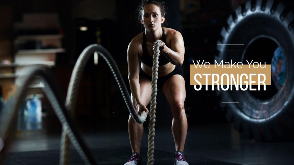 We make you stronger poster — Crea un design
