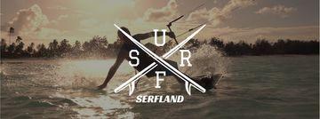 Man Kite Surfing at Tropical Sea