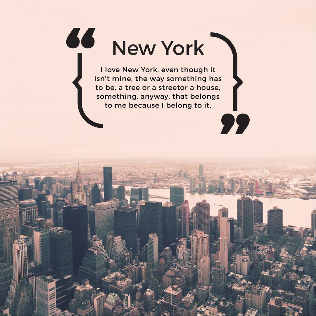 New York Inspirational Quote — Crea un design