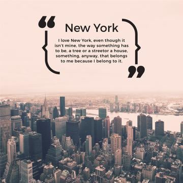 New York inspirational quote