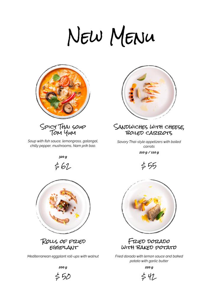 Delicious food on plates — Crear un diseño