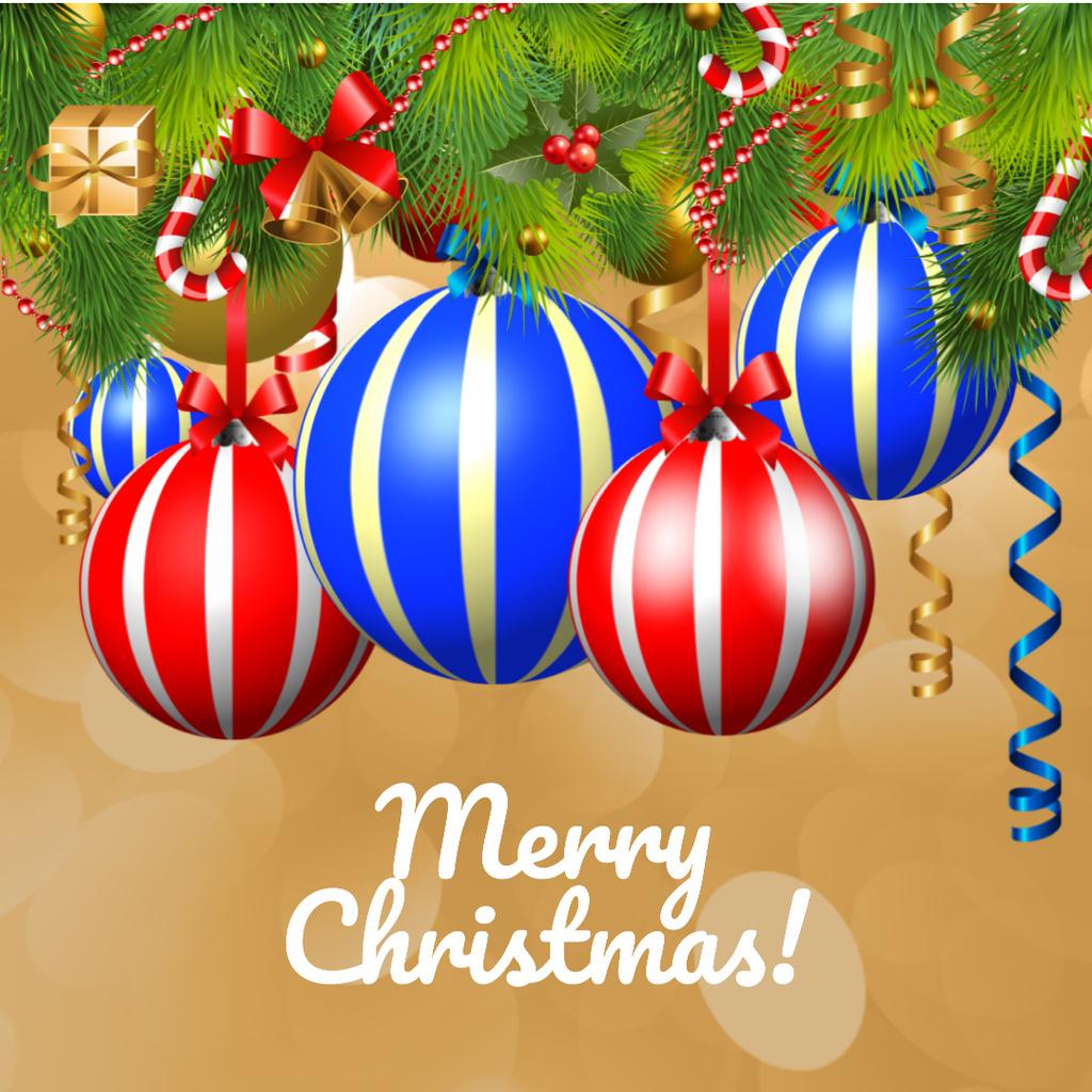 Spinning Christmas baubles — Modelo de projeto