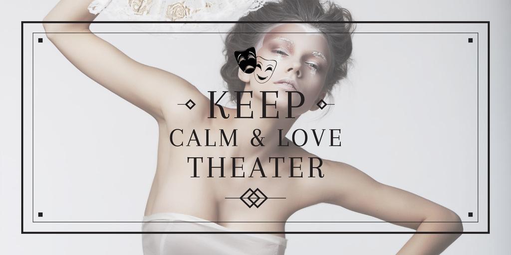 Citation about love to theater — Создать дизайн