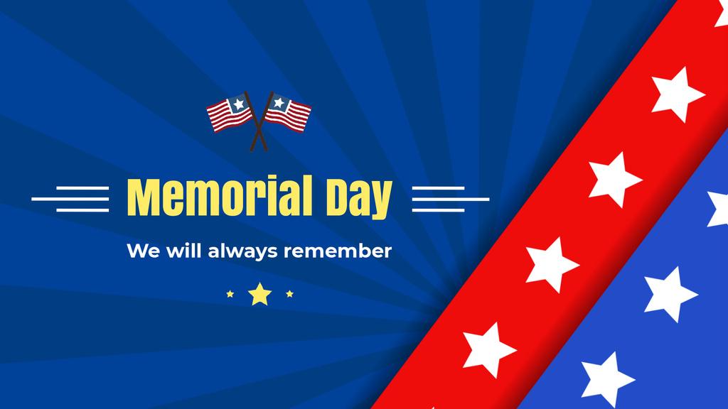 USA Memorial Day greeting with Flag — Modelo de projeto