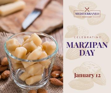 Marzipan confection day celebration