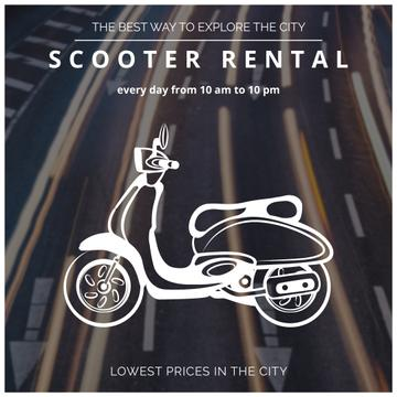 Scooter rental Advertisement