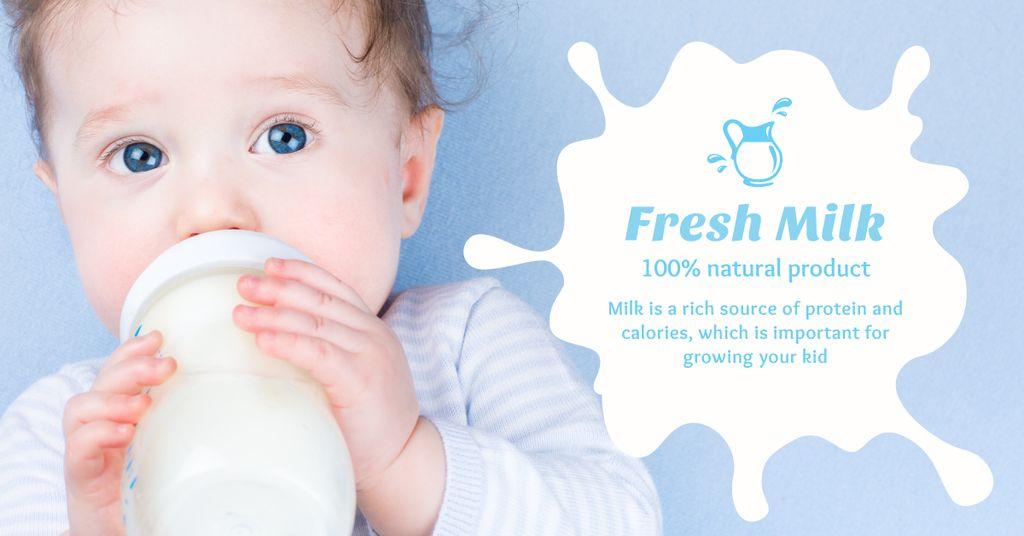 Baby drinking from bottle — ein Design erstellen
