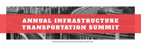 Ontwerpsjabloon van Twitter van Annual infrastructure transportation summit