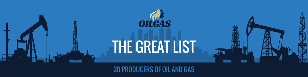 Producers of oil and gas banner — Modelo de projeto