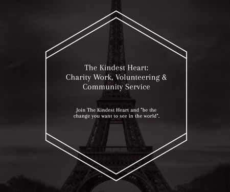 The Kindest Heart: Charity Work Large Rectangle Modelo de Design