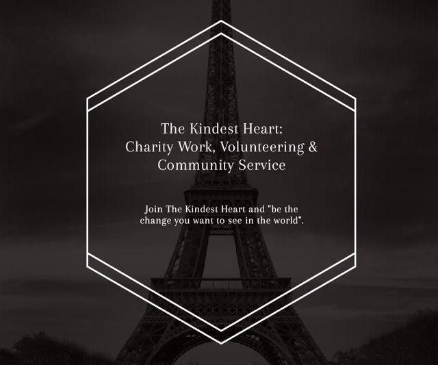 Ontwerpsjabloon van Large Rectangle van The Kindest Heart: Charity Work