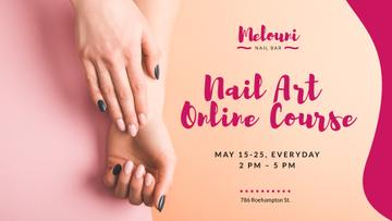 Nail Art Online Course Ad with Tender Female Hands