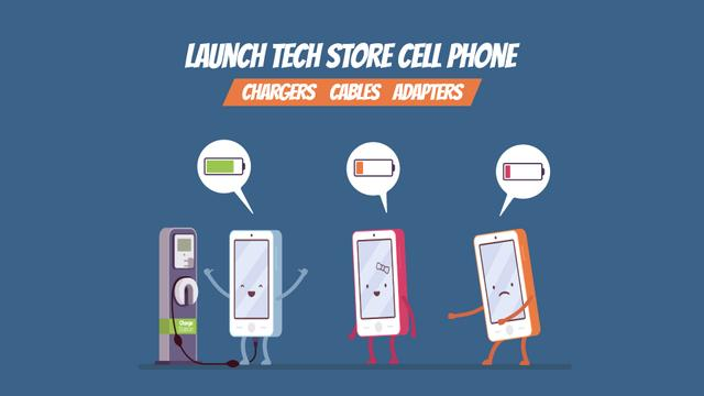 Gadgets Store Promotion Cell Phones Charging Full HD video Design Template