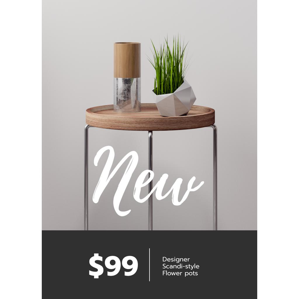 Furniture Store ad with Table and plant — Maak een ontwerp