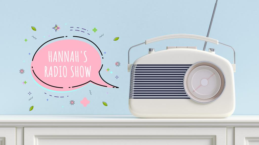Retro radio with speech bubble — Créer un visuel