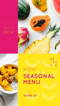 Fresh tropical Fruits menu