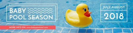 Plantilla de diseño de Rubber duck in swimming pool Twitter