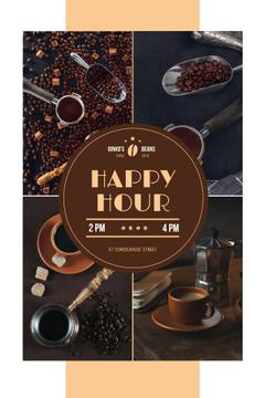 Happy Hour Offer Coffee Drinks and Beans