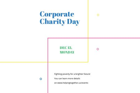 Ontwerpsjabloon van Gift Certificate van Corporate Charity Day