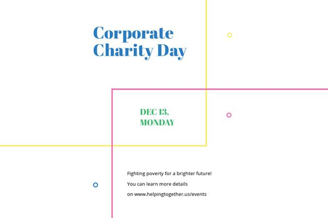Corporate Charity Day Gift Certificate – шаблон для дизайну