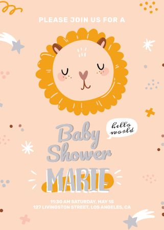 Template di design Baby Shower party with cute animal Invitation