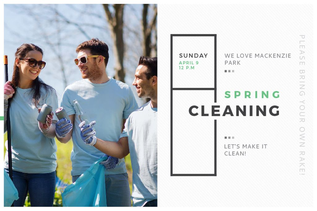 Spring Cleaning in Mackenzie park — Maak een ontwerp
