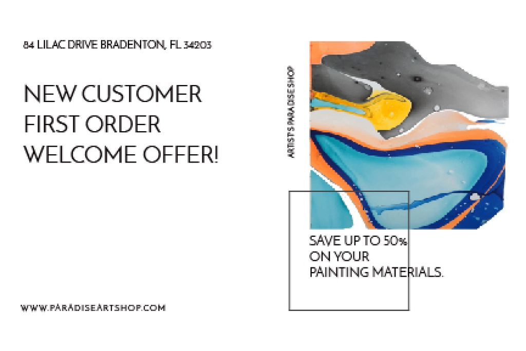 Painting materials shop — Crear un diseño