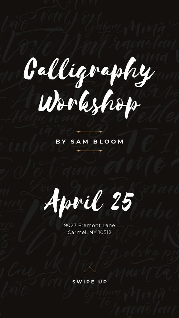 Caligraphy Workshop Annoucement — Modelo de projeto