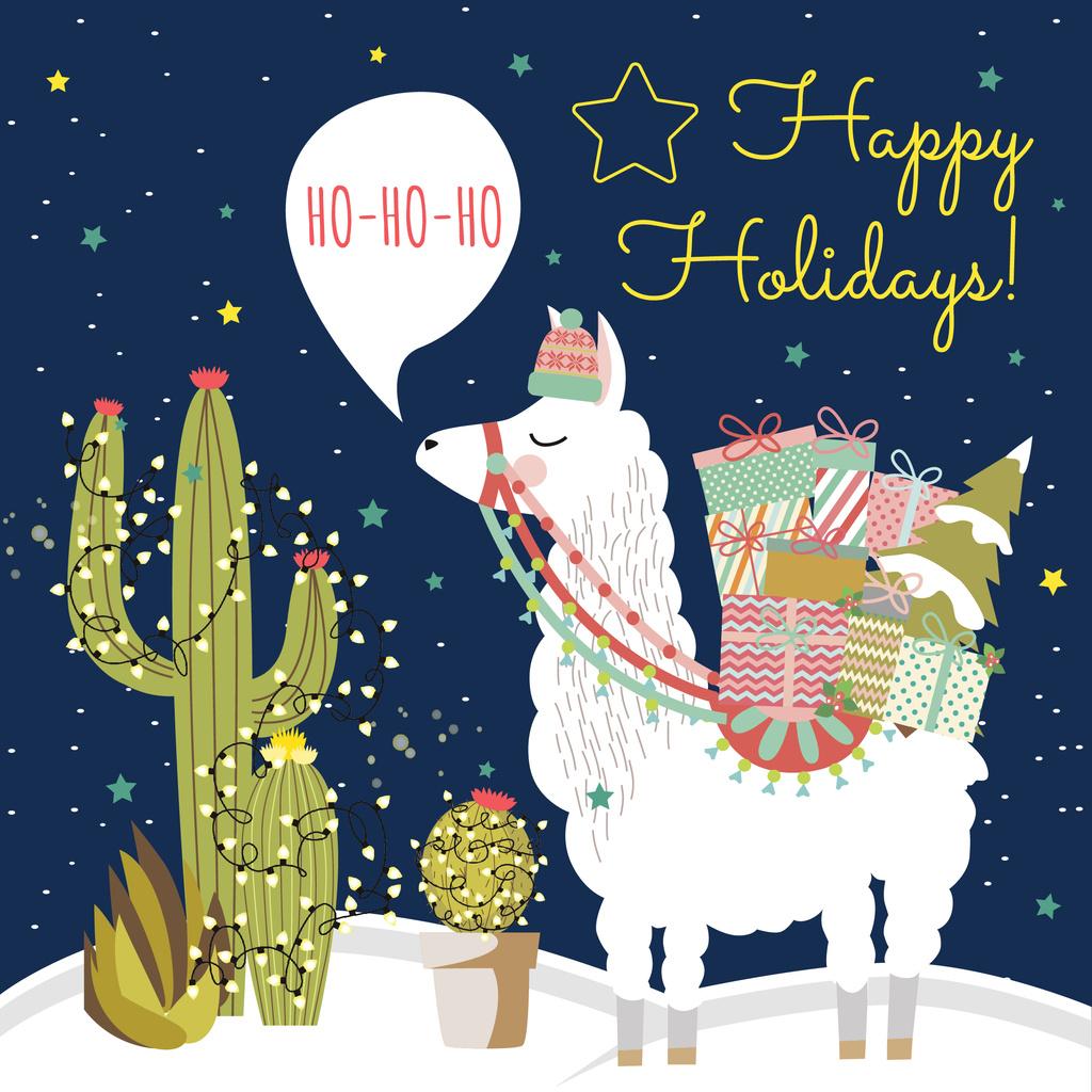 Happy Holidays card — Maak een ontwerp