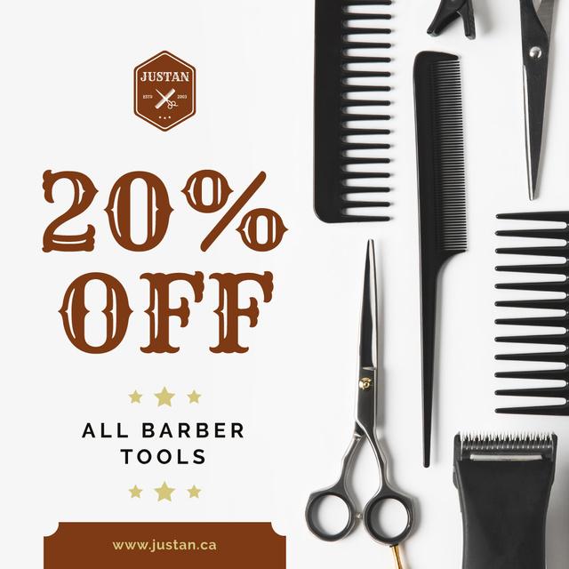 Szablon projektu Barbershop Professional Tools Sale Instagram