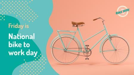 Bike to Work Day greeting modern city Bicycle FB event cover Modelo de Design