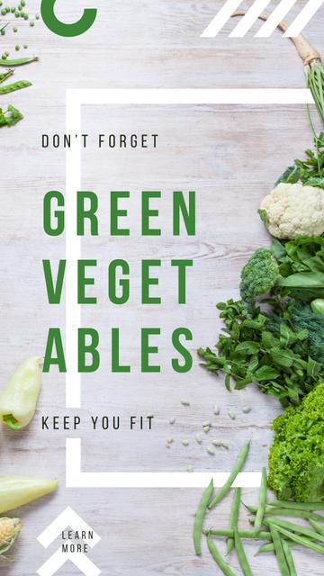 Green raw vegetables Instagram Story Tasarım Şablonu
