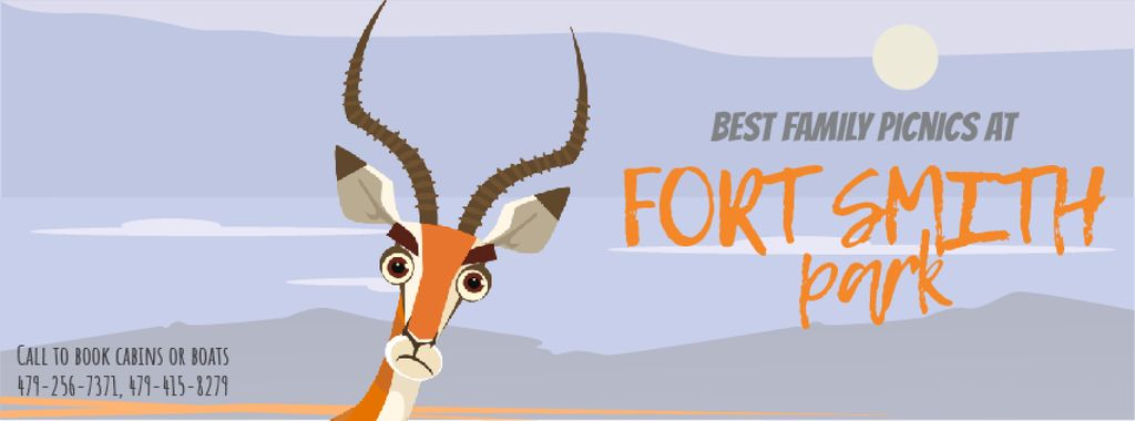 Wild Antelope in Nature Facebook Video Cover — Create a Design