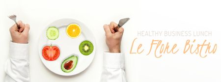 Plantilla de diseño de Fresh plant food on plate Facebook Video cover