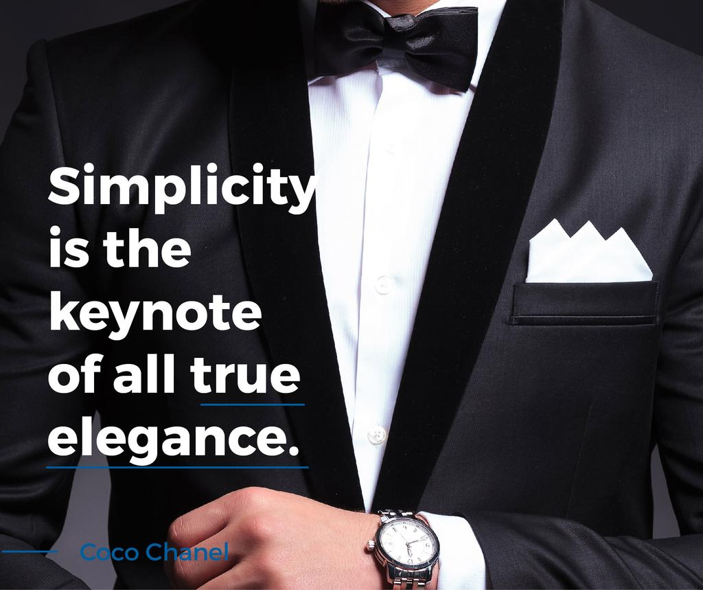 Elegance Quote Businessman Wearing Suit — ein Design erstellen