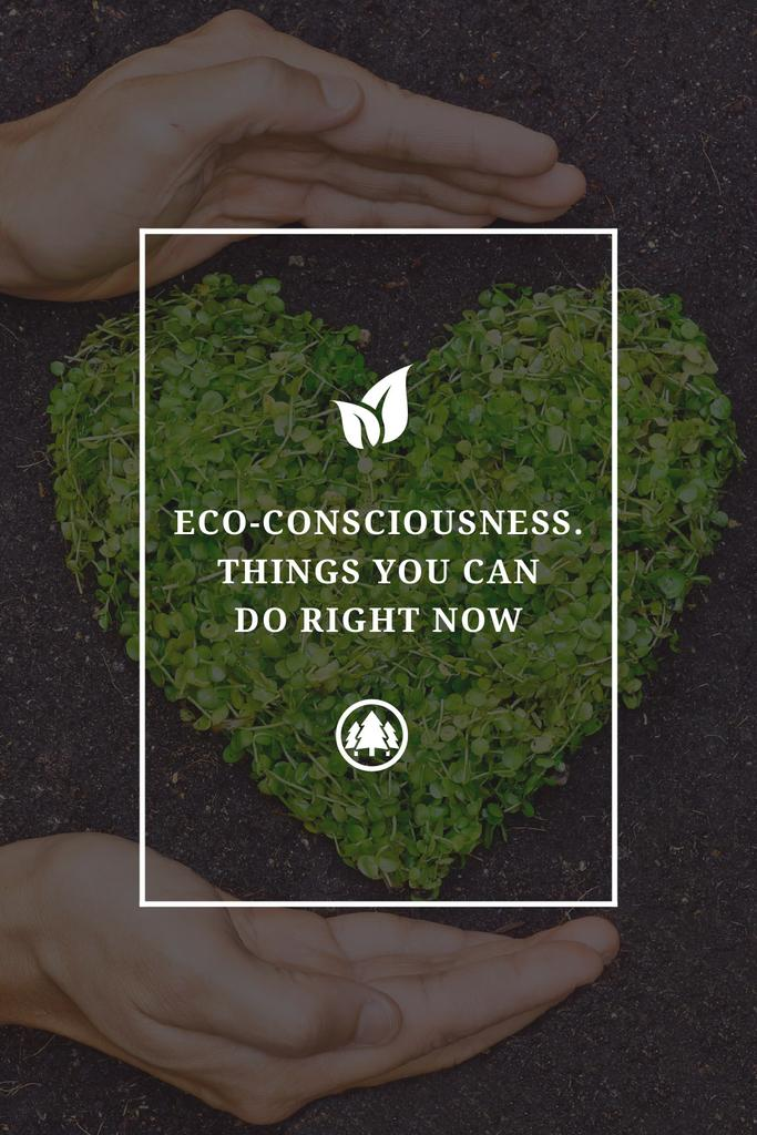 Eco Quote on Heart of Leaves — Modelo de projeto