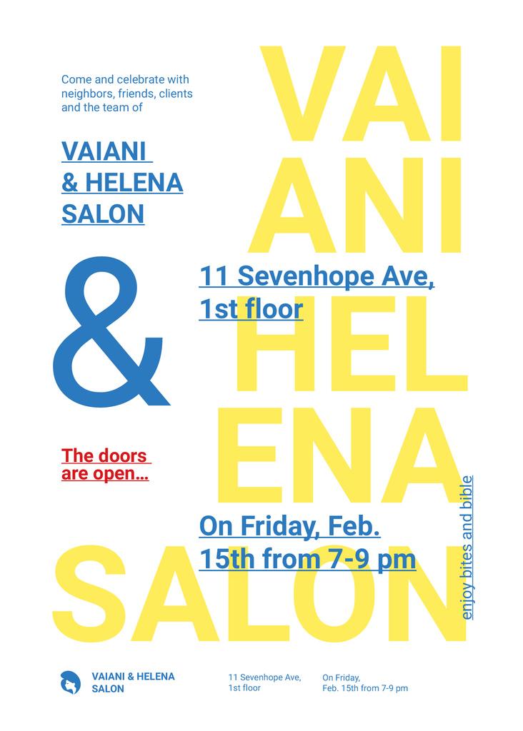 Vaiani & Helena salon logo inscription — Créer un visuel