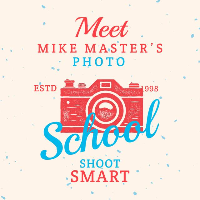 Stamp of photo camera Animated Post Design Template