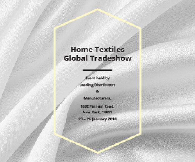Modèle de visuel Home Textiles Events Announcement White Silk - Large Rectangle