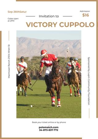 Ontwerpsjabloon van Poster van Invitation to polo match