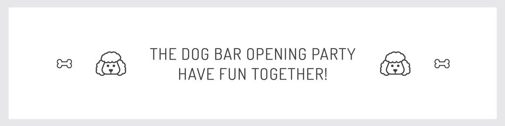 The dog bar opening party Twitterデザインテンプレート