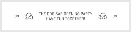 Ontwerpsjabloon van Twitter van The dog bar opening party
