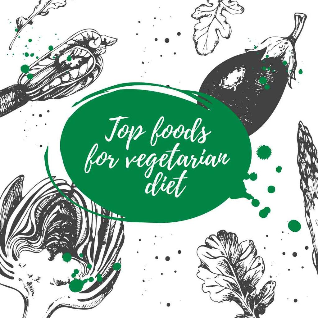 top foods for vegetarian diet poster — Створити дизайн