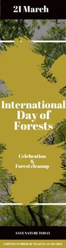 International Day of Forests Event Tall Trees | Wide Skyscraper Template