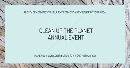 Modèle de visuel Clean up the Planet Annual event - Facebook AD