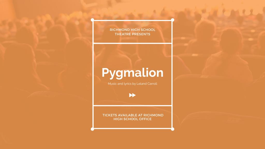 Theater Performance Announcement Excited Audience | Youtube Channel Art — ein Design erstellen